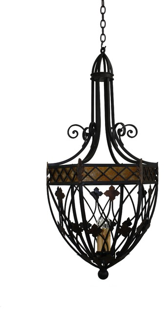 Custom iron pendant lights mediterranean pendant for Mediterranean lighting fixtures