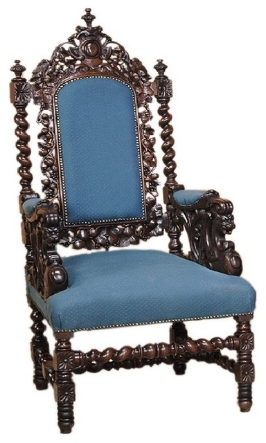 Sezen Ulubay Antiues Blue Armchair accent-chairs