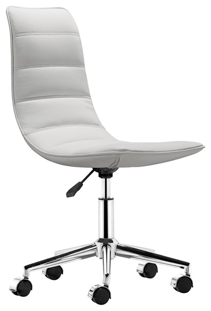 zuo ranger white armless office chair contemporary office chairs
