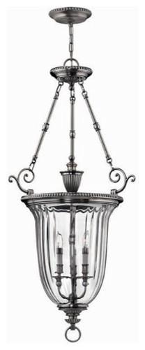 Hinkley Lighting 3614PW Hanger 3 Light Foyer Cambridge Collection traditional-pendant-lighting