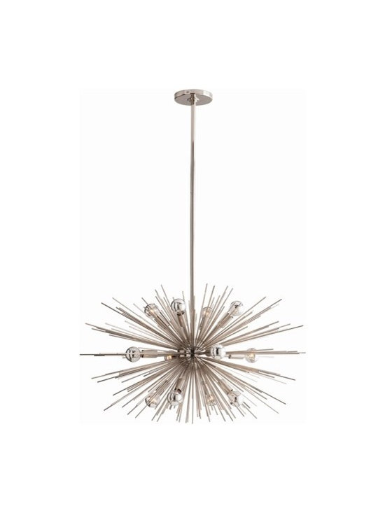 Arteriors Zanadoo 12 Light Polished Nickel Chandelier - Zanadoo 12 Light Polished Nickel Chandelier