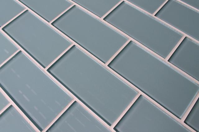 Jasper Blue 3 X 6 Glass Subway Tile Contemporary Tile