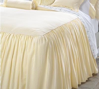 Gathered Seersucker Bedspread contemporary-bedding