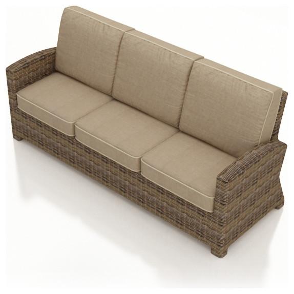 Cypress Modern Outdoor Sofa, Spectrum Mushroom Cushions contemporary-outdoor-sofas