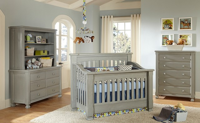 Everything Nice Spice Crib In Vintage Grey Traditional