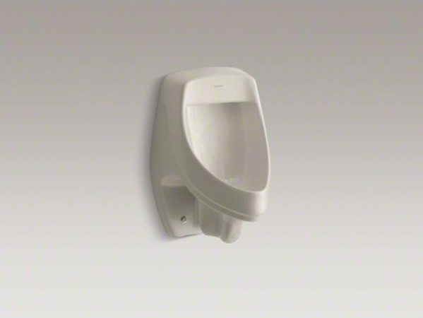 KOHLER Dexter(TM) siphon-jet wall-mount 1/2 gpf urinal with rear spud contemporary-urinals