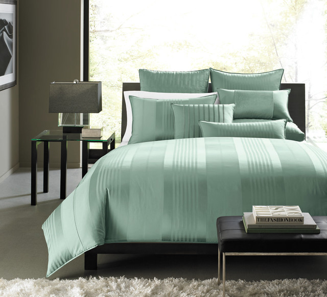 Hotel collection bedding classic stripe contemporary bedding