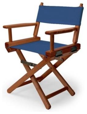 14 in. Blue Child's Canvas Directors Chair - Walnut Frame modern-kids-chairs