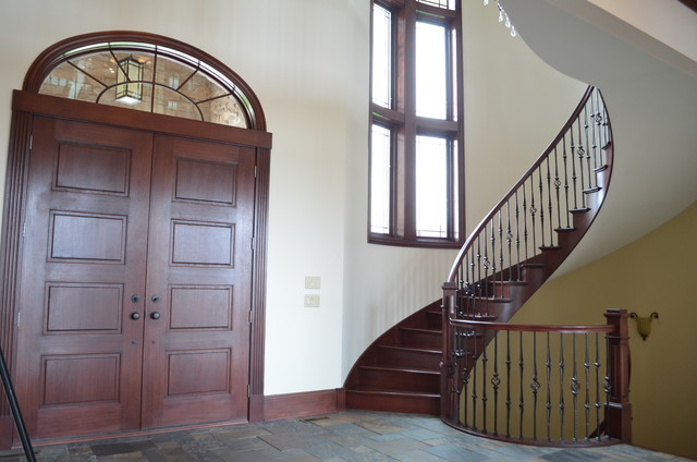 Lakefront home traditional-staircase