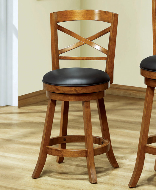Monarch Specialties 1254 X Back Swivel Counter Stool In
