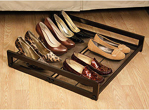 Under-Bed Sliding Shoe Rack traditional-closet-storage