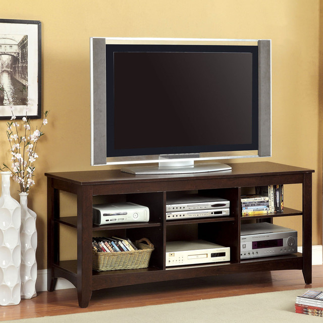 Furniture of America Emworth Open Transitional 60-Inch TV Console - Contemporary - Entertainment ...
