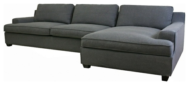 Kaspar Slate Gray Fabric Modern Sectional Sofa modern-sofas
