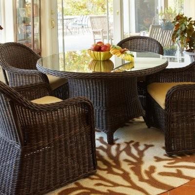 Anacara Mariner 5 Pice Wicker Dining Set modern-dining-tables