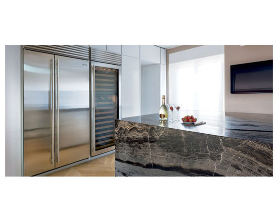 """Sub-Zero 48"""" Built-in Side By Side Refrigerator, Stainless Steel 