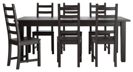 STORNÄS/KAUSTBY Table and 6 chairs modern-dining-tables
