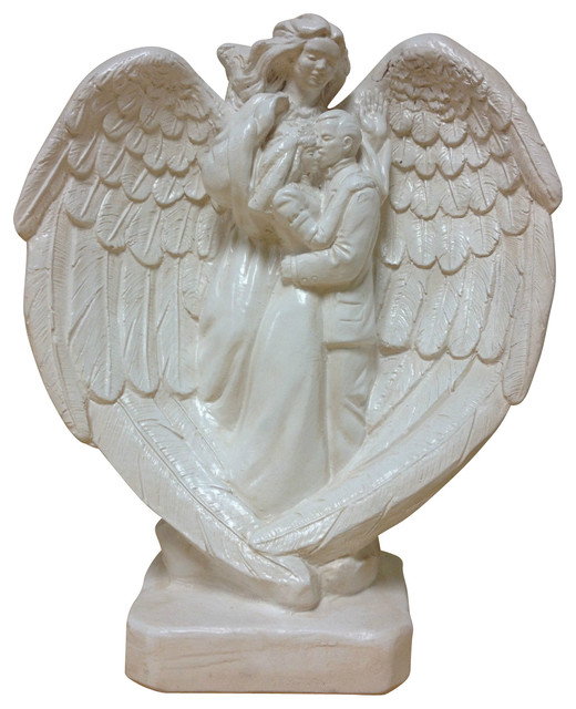 Marriage angel wedding figure statue classic statuary home for Modern decorative objects