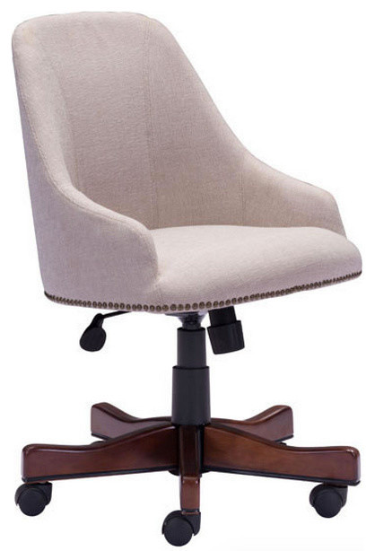 Linen Office Chair Zuo Modern Maximus Beige Transitional Chairs By Matthew Izzo
