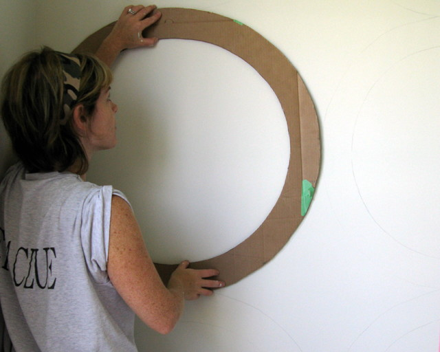 Wall Treatment Made From A Pizza Box-DIY - Eclectic - Home Office - philadelphia - by Shoshana ...