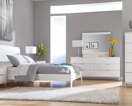 Bedrooms Furniture - Metro Modern White Master Bedroom Set