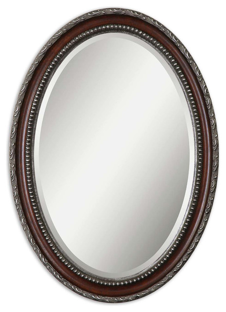 Uttermost 14196 Montrose Oval Silver Mirror contemporary-wall-mirrors