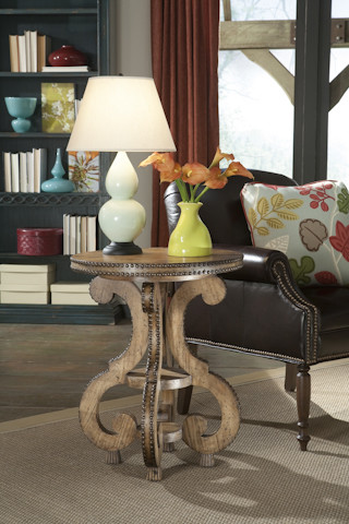 Studded Accent Side Table traditional-side-tables-and-end-tables