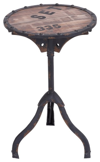 Industrial End Table Eclectic Side Tables And End Tables By
