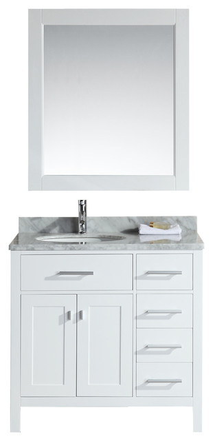 Design Elements DEC076D-W-R Vanity in White modern-bathroom-vanities-and-sink-consoles