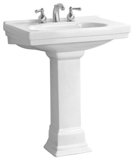 pedestal lavatory sink in white f contemporary bathroom sinks