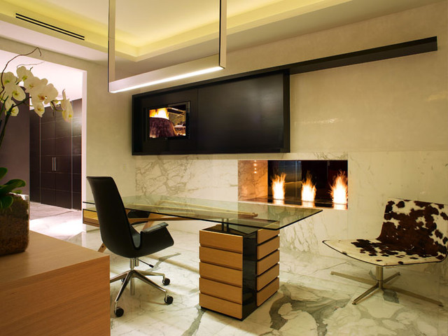 modern home office by Pepe Calderin Design- Miami Modern Interior Design