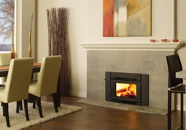 Regency alterra ci1200 wood fireplace insert for Contemporary wood fireplace