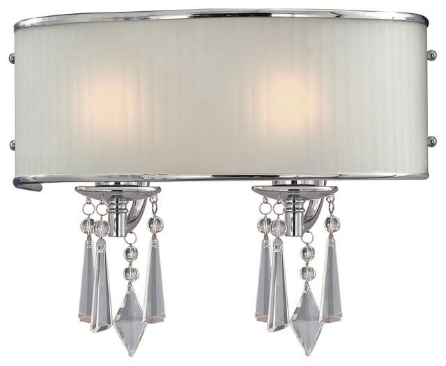 "Contemporary Echelon Bridal Veil 15"" Wide Bathroom Wall Light contemporary-bathroom-vanity-lighting"