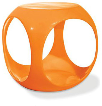 Orange Cube Accent Table contemporary side tables and accent tables