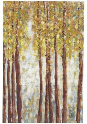 Birch Trees Wall Art, Blue contemporary-prints-and-posters