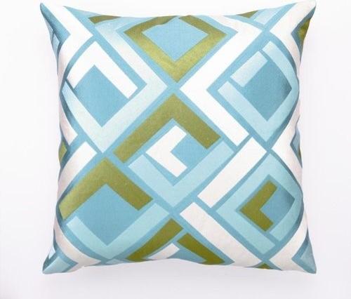 "Blue Avenida Maze EMB PLW 20X20"" contemporary-decorative-pillows"