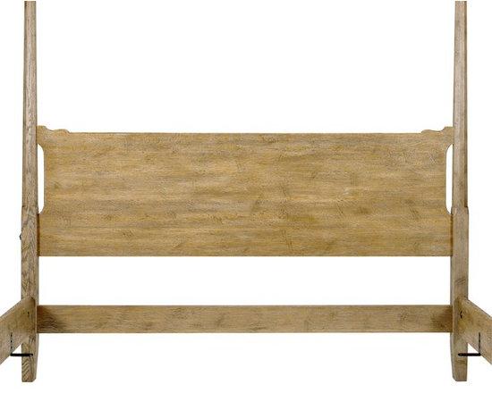 Wright Table Company - The No. 690 Custom Bed, Pencil Post, Quarter Sawn Oak, Ceruse Finish -
