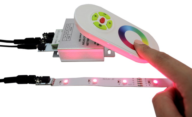 RGB Color-Changing Controller With Wireless Remote timers-and-lighting-controls
