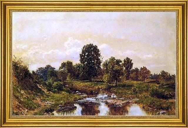 "Hugh Newell-16""x24"" Framed Canvas traditional-artwork"