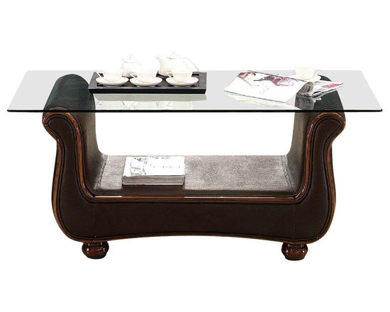 ESF Furniture - Classically Shaped Coffee Table - ESF Furniture - Amazing Classically Shaped Coffee Table - ESF Furniture will be perfect addition to your living room. Coffee table features classical shape covered with glass top. This coffee table is unique by its shape and design.