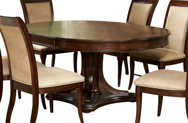 Steve silver marseille 52 inch round dining table w 18 for 52 kitchen table