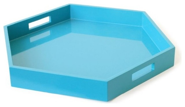 Lacquer Hexagon Tray contemporary serveware
