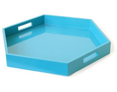 Lacquer Hexagon Tray contemporary-serving-dishes-and-platters