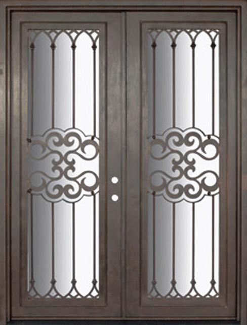 Tivoli 72x96 wrought iron double door 14 gauge steel for 14 gauge steel door