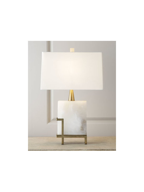 Arteriors - Arteriors 'Herst' Lamp - I love the proportions, geometric shape and elegance that this lamp with a smooth marble and brass base delivers.