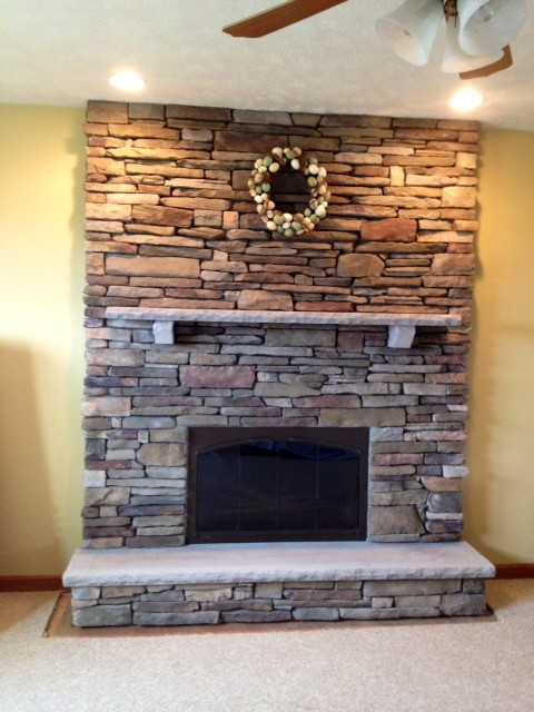 Stone Fireplaces transitional