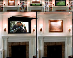 Who can install sliding pocket door like this TV cabinet door?