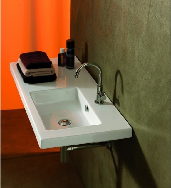 Counter Mounted Sink : Wall Mounted, Vessel, or Built-In Sink with Left Counter Space ...