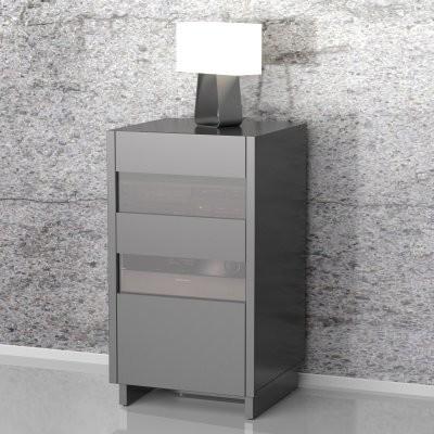 Nexera Vision Audio Tower - Black - Modern - Media Storage ...