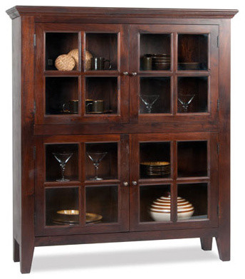 Bidwell Curio Cabinet - Eclectic - Accent Chests And Cabinets - by Dania Furniture