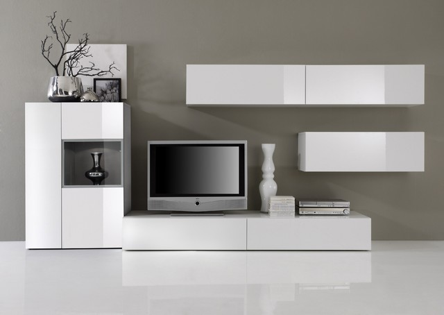 Modern Wall Unit TV Media Entertainment Center Jetset 304